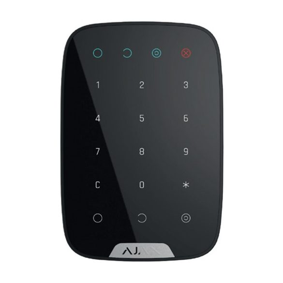 AJAX Keypad FEKETE vezetéknélküli érintés vezérelt kezelő