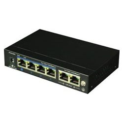 DAS-2042P 4-port PoE switch + 2 x uplink port. 4 x 10/100 Base-