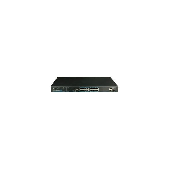 DAS-3162P 16-port PoE switch + 2 x uplink port. 16 x 10/100 Base-T