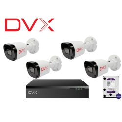 DVX SZETT 4CH IP Bullet 2Mpx DVX-IPCBF2363x4, DVX-NVR045Px1, HDD1TBx1