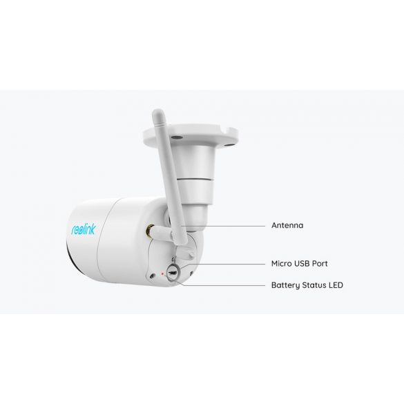 Reolink Argus Eco kültéri WiFi-s IP kamera 100°-os látószög